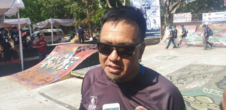 Ketua Assosiasi BMX  Indonesia Jawa Barat Dadan Helvi. Dede