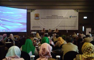 Dinkes Kabupaten Cirebon saat mensosialisasikan OGJ. Dede