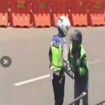 Driver ojol yang dipukul polisi Bogor Kota di Tugu Kujang (ist)