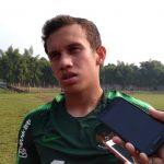 Egi Maulana Fikri bersama pemain timnas U-23 latihan di GOR Pajajaran (adi)