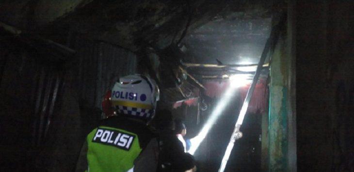 Kios rongsok di Kota Sukabumi terbakar./Foto: Rmol