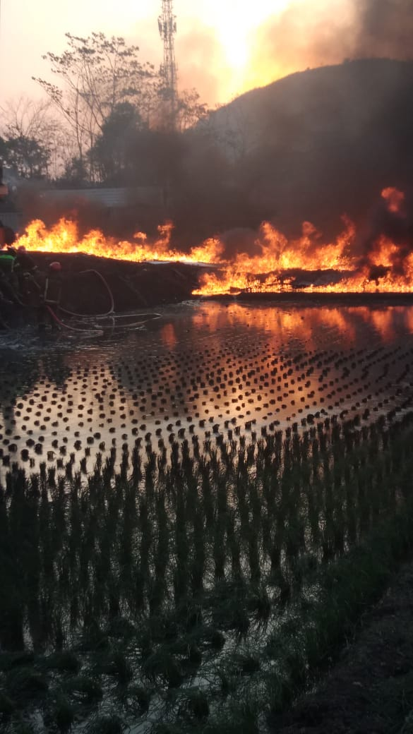 Kebakaran pipa Perrtamina di Cimahi (ist)
