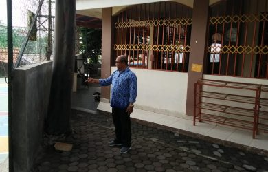 Masjid SMAN 4 Kota Bogor terancam dibongkar karena double track kereta api (adi)