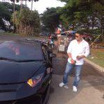 Mobil Lamborgini diduga milik Raffi Ahmad terbakar di Sentul City (ist)