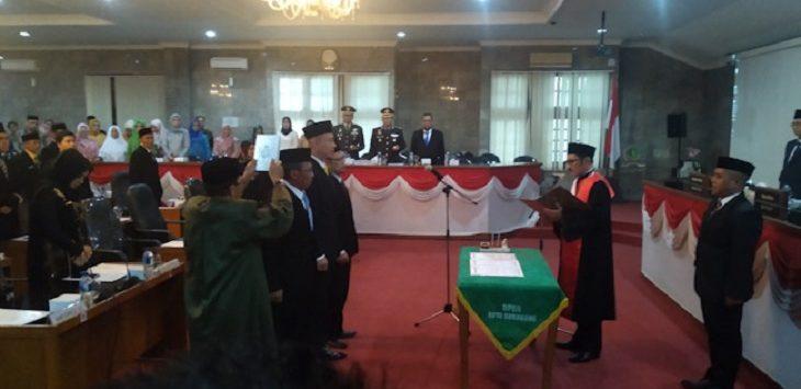 Pelantikan Pimpinan DPRD Kota Sukabumi./Foto: Rmol