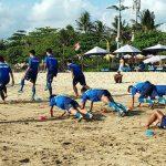Pemain Persib Bandung di Pantai Legian Bali (ist)