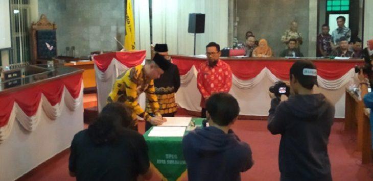 Penetapan pimpinan definitif DPRD Kota Sukabumi./Foto: Rmol
