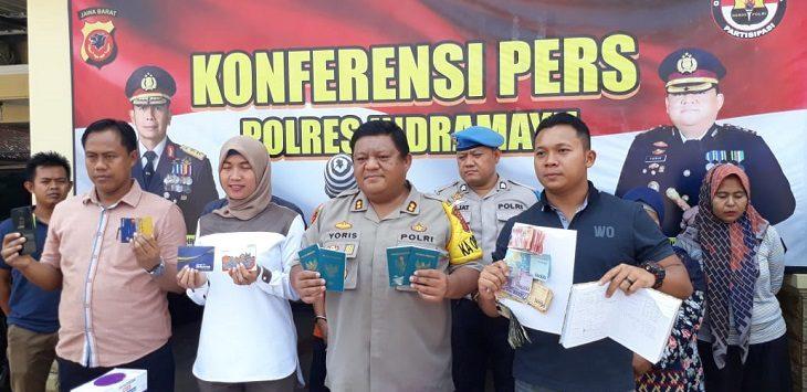 Polres Indramayu ungkap kasus TPPO, Jumat (25/10/2019)./Foto: Istimewa