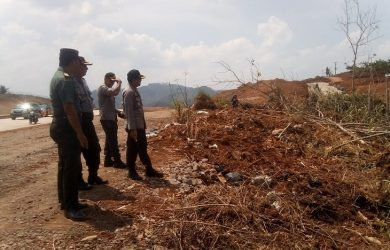 Polres Sumedang tinjau lokasi lahan Tol Cisumdawu