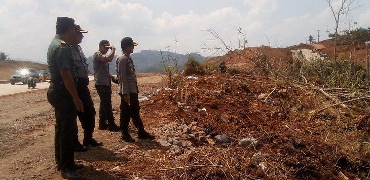 Polres Sumedang tinjau lokasi lahan Tol Cisumdawu, Selasa (29/10/2019)./Foto: Istimewa