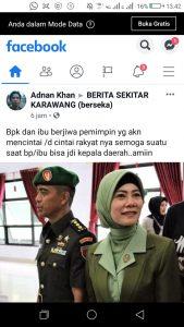 Postingan tentang Kolonel Hendi yang putra asli Karawang (ist)