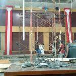 Ruang paripurna DPRD Kota Bogor yang hancur dihantam angin kencang Sabtu (cek)