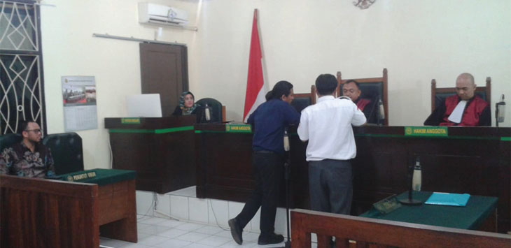 Dianggap lakukan perbuatan melawan hukum, PT PJR gugat Mulyadi, dkk di PN Depok, senin (30/9/19). Radar Depok