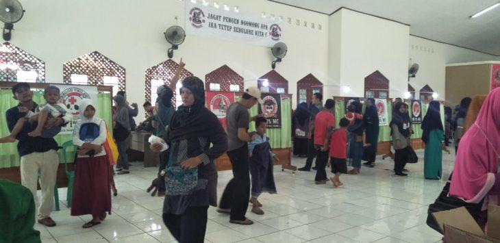 Suasana Gedung ICC IAIN Syekh Nurjati Cirebon saat penyelenggaraan khitanan massal. (Istimewa)