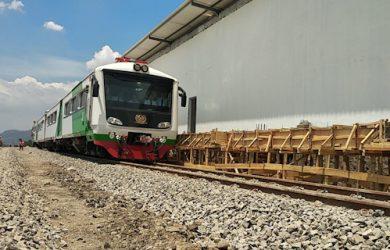 Ujicoba rel kereta api Cibatu-Garut (ist)