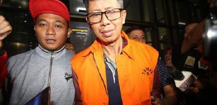 Mantan Kalapas Sukamiskin Wahid Husein saat ditahan KPK (jpc)
