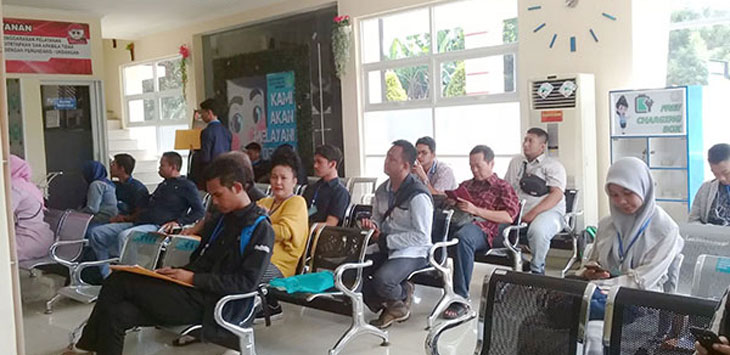 Suasana kantor Imigrasi kelas II Sukabumi di Jalan Lingkar Selatan.