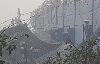 Atap GOR Arcamanik yang ambruk (ist)