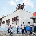 Atap sekolah SMPN 2 Karangbahagia