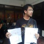 Gerard saat melapor ke Polrestabes Bandung