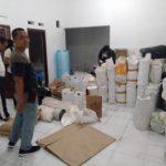 Gudang penyimpanan obat yang digerebek polisi di Cimanggu (adi)