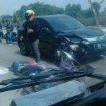 Kecelakaan antara Honda Supra X dengan mobil Honda HRV di Jalan Baru (ist)