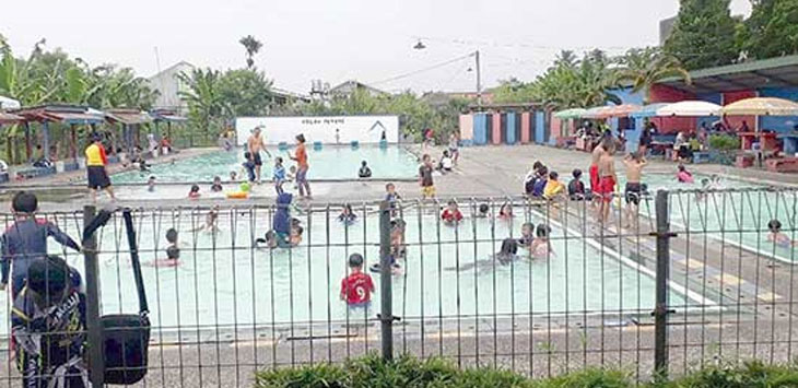 Kolam renang rengganis menjadi salah satu objek wisata air bagi warga Kota Sukabumi. IST