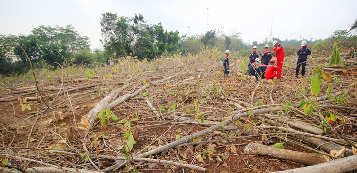 Pekerja beraktifitas di lahan yang terdampak pembangunan Universitas Islam Internasional Indonesia (UIII) di Kelurahan Cisalak, Kecamatan Sukmajaya. Radar Depok