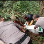Mayat dalam koper di Curug Bitung Kecamatan Nanggung dievakuasi (ist)