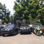 Mobil mewah Dirut Akumobil sitaan Polrestabes Bandung