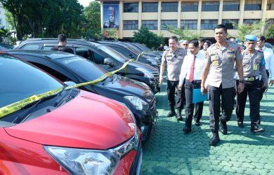 Mobil mobil curian yang berhasil diungkap Polda Jabar (arf)