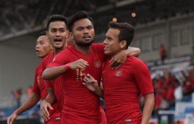 Egy Maulana Vikri usai cetak gol saat Timnas Indonesia vs Thailand di SEA Games 2019 (ist)