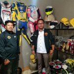 Pengurus IMI Bogor di rumah duka pembalap Afridza Munandar di Tasikmalaya (ist)
