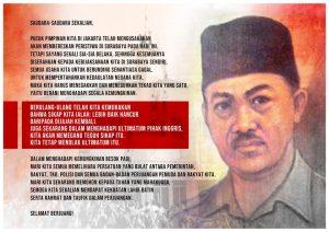 Postingan Prabowo Subianto terkait Hari Pahlawan (ist)