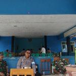 TNI Polri saat standby di Kantor Desa Masawah