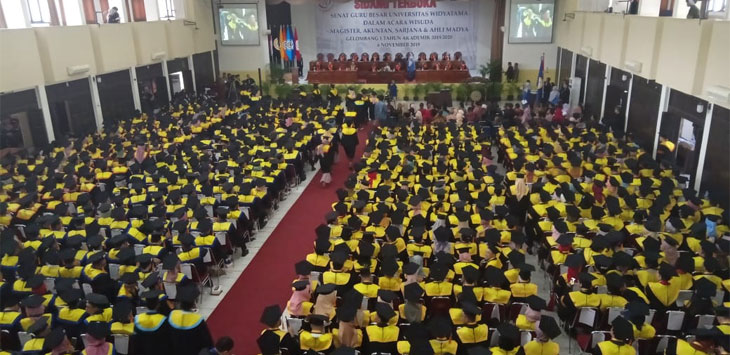 Wisudawan/wisudawati Universitas Widyatama Kota Bandung
