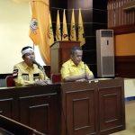 Ketua DPD Golkar Kabupaten Bekasi (kiri) saat terpilih melalui musda Juli 2019 lalu.