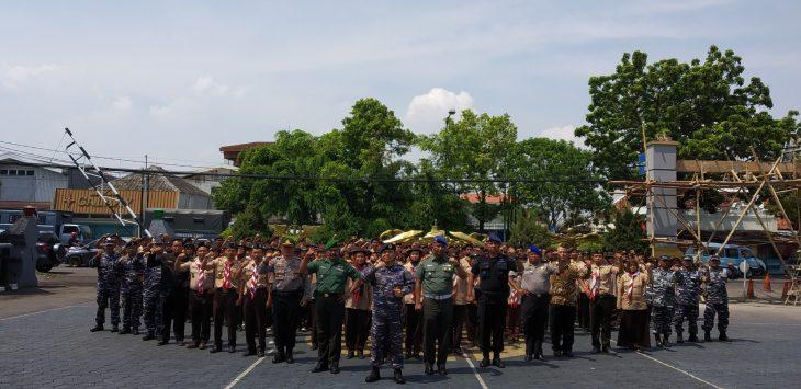 Foto bersama usai pembukaan Perkemahan Bakti Genta Bahari. Dede