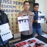 Barangbukti dari perampok yang mati ditembak polisi di Karawang (dtc)