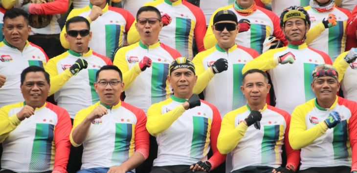 Gubernur Jawa Barat Ridwan Kamil bersama Muspida di acara Gowes Kebangsaan (ist)