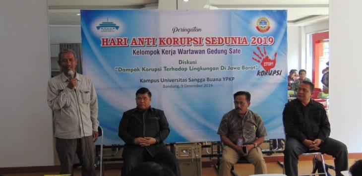 Hari Anti Korupsi Internasional di  Universitas Sangga Buana, Bandung, Senin (9/12)./Foto: Arief