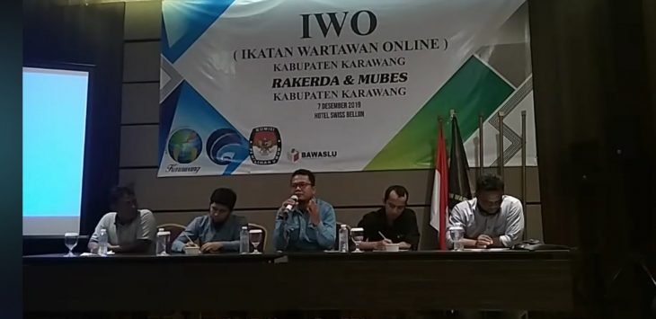 Diskusi IWO Karawang di tengah pusaran Pilkada 2020, Hotel Swiss Belinn, Sabtu (7/12/2019)./Foto: IWO Karawang