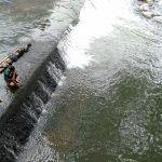 Lokasi tenggelamnya bocah di Sungai Ciliwung Sempur Kota Bogor (adi)