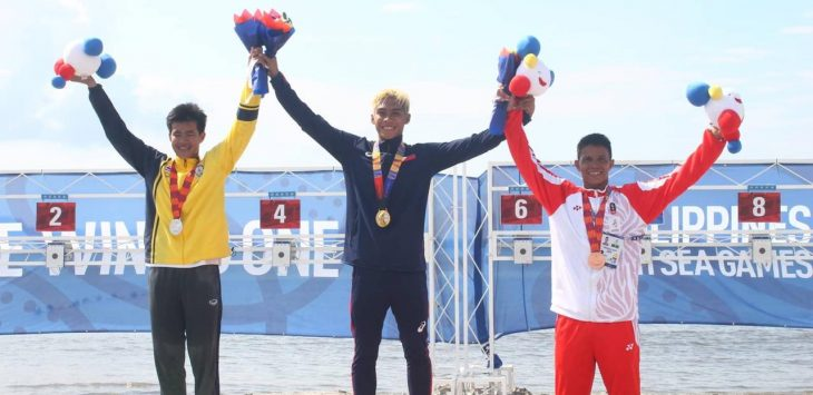 Medali perunggu M Taufik saat di Filipina. Taufik juga meraih emas di Filipina (ist)