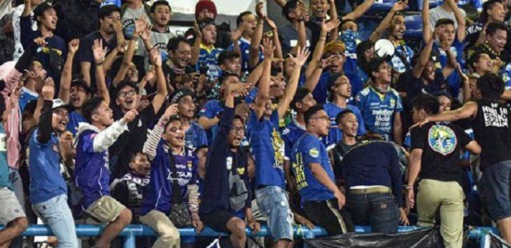 Kemeriahan kemenangan Persib Bandung atas Borneo FC./Foto: Istimewa