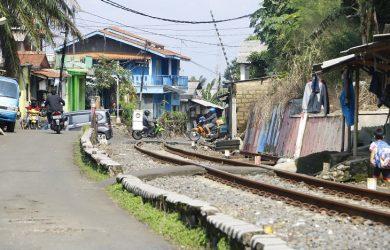 Proyek double track Sukabumi-Bogor