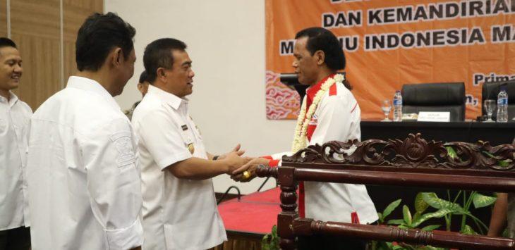 Wali Kota Cirebon Nazrudin Azis bertemu Ketua GRIB Hercules. dede