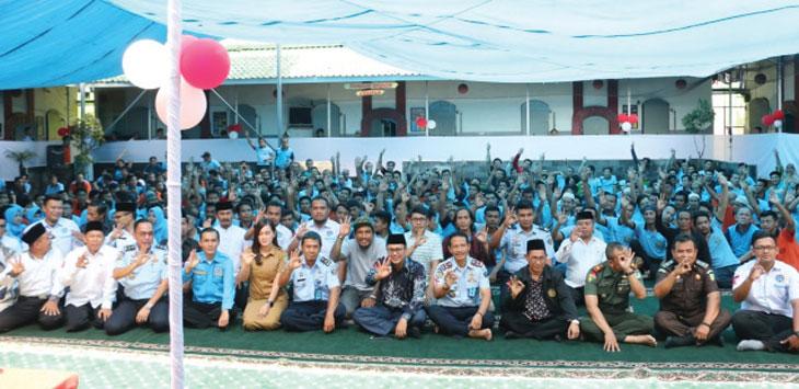 Rangkaian peringatan hari AIDS sedunia tahun 2019 tingkat Kota Sukabumi yang di laksanakan di Lembaga Pemasyarakatan Klas II B Nyomplong, Kota Sukabumi.
