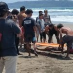 Wisatawan yang tewas tenggelam di Pantai Pangandaran Jawa Barat (ist)