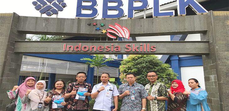 Disnaker Kota Depok saat melakukan studi banding pelaksanaan Balai Latihan Kerja (BLK) di BLK milik Kementerian Ketenagakerjaan. Radar Depok
